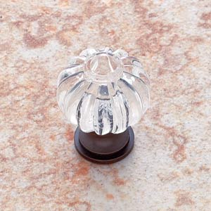 Acrylic Crystal 1-Inch Knob with Old World Bronze Base