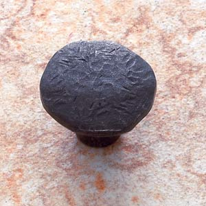 Antique Bronze Primitive Mushroom Knob