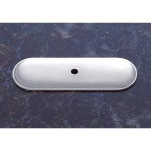 Pewter 2 3/4-Inch Oblong Back Plate