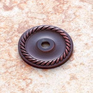 Old World Bronze 1 1/2-Inch Diameter English Rope Back Plate