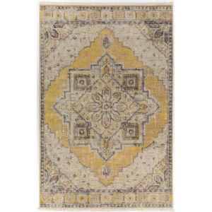 Baku Lemon Rectangular: 3 Ft. 1 In. x 5 Ft. 4 In. Rug