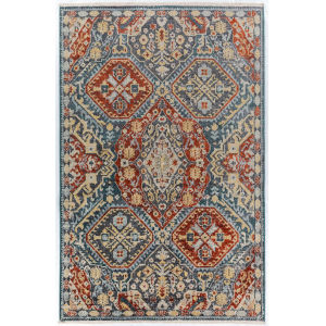 Baku Navy Rectangular: 7 Ft. 6 In. x 9 Ft. 8 In. Rug
