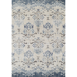 Antigua Blue Rectangular: 5 Ft. 3 In. x 7 Ft. 7 In. Rug