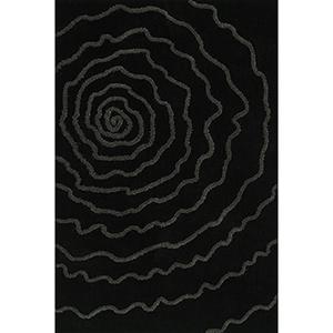 Dakota Black Rectangular: 3 Ft. 6 In. x 5 Ft. 6 In. Rug
