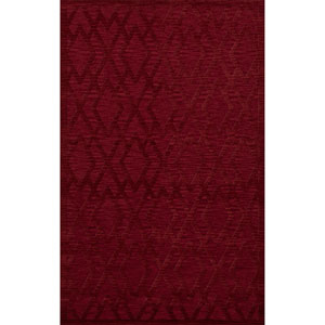 Dover DV1 Rich Red Rectangular: 3 x 5 Ft.  Area Rug