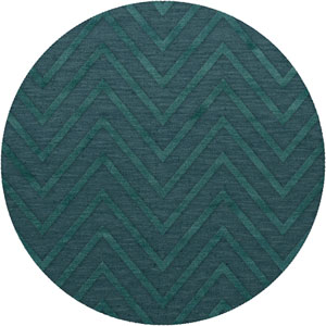 Dover DV4 Teal Round: 6 Ft. Area Rug