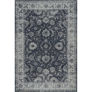 Geneva Steel Blue Rectangular: 9 Ft. 6-Inch x 13 Ft. 2-Inch Rug