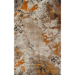 Rossini Tangerine Rectangular: 7 Ft. 10-Inch x 10 Ft. 7-Inch Rug