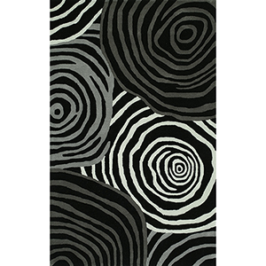 Santino Black Rectangular: 3 Ft. 6 In. x 5 Ft. 6 In. Rug