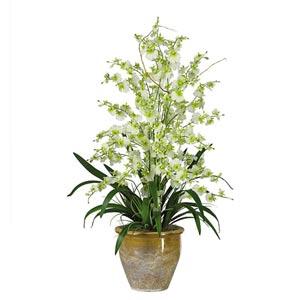 Green Triple Dancing Lady Silk Flower Arrangement