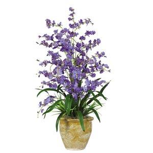 Purple Triple Dancing Lady Silk Flower Arrangement