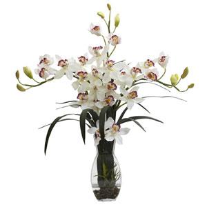 White Triple Cymbidium with Vase Arrangement