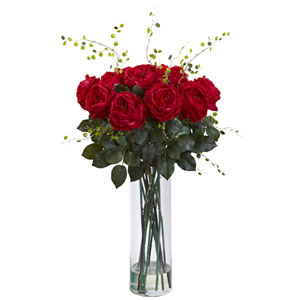 Red Giant Fancy Rose and Willow Arrangement