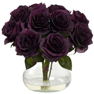 Purple Elegance Rose Arrangement with Vase