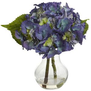 Blue Blooming Hydrangea with Vase Arrangement