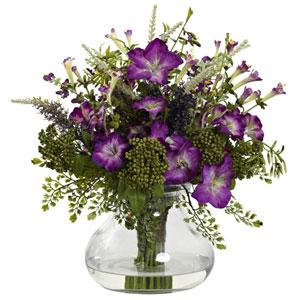 Purple Large Mixed Morning Glory with Vase