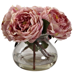 Pink Fancy Rose with Vase