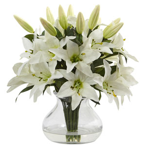 Lily Arrangement with Vase