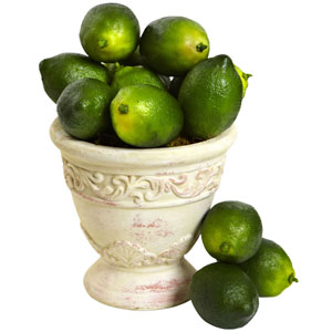 Green Faux Limes, Set of 12