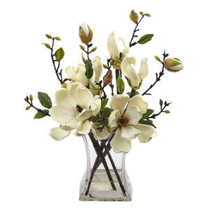 White Magnolia Arrangement with Vase