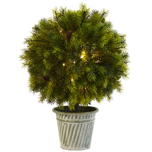 18-Inch Pine Ball in Iron Top