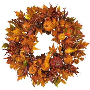 28-Inch Harvest Wreath