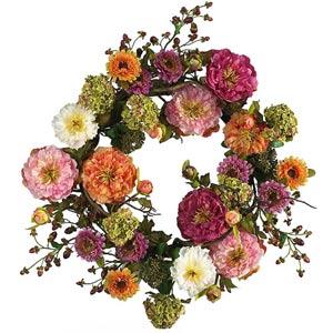 24-Inch Mixed Peony Wreath