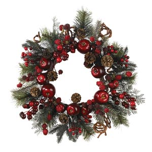 22-Inch Apple Berry Wreath