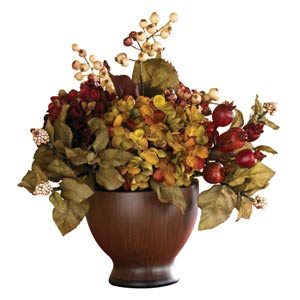 Autumn Hydrangea with Round Vase