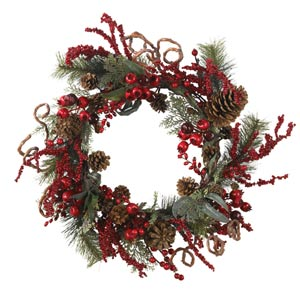 24-Inch Assorted Berry Wreath