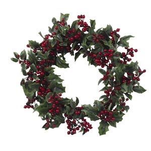 24-Inch Holly Berry Wreath