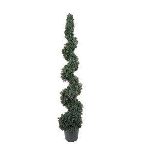 5-Foot Indoor/Outdoor Cedar Spiral Silk Tree