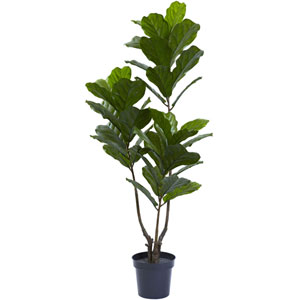 Green 65-Inch Fiddle Leaf Tree