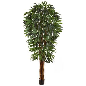 Green 84-Inch Raphis Silk Palm Tree