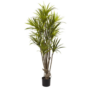 Green 5 Foot Dracaena Silk Tree