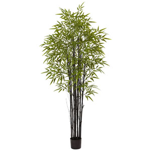 Black Bamboo Tree x 9 with 1470 Leaves UV Resistant
