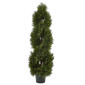 Double Pond Cypress Spiral Topiary UV Resistant with 1036 Leaves