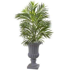 3.5 Ft. Areca Palm Tree with Gray Urn UV Resistant
