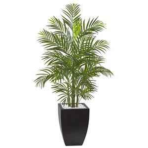 4.5 Ft. Areca Palm Tree with Black Wash Planter UV Resistant