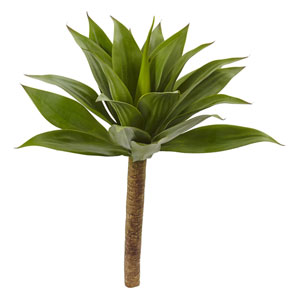 Green 32-Inch Agave Plant with Stem