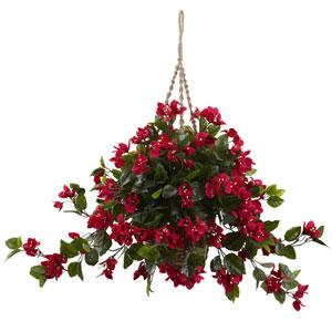 Red Bougainvillea UV Resistant Hanging Basket