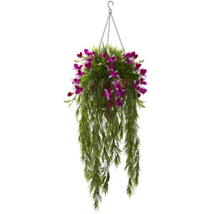 Bamboo and Dendrobium Hanging Basket