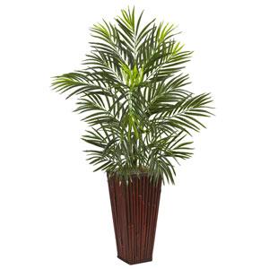 Areca Palm in Bamboo Planter