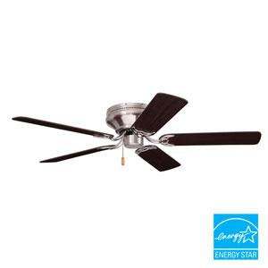 Snugger Brushed Steel 42-Inch Ceiling Fan