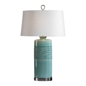 Rila Distressed Teal Table Lamp