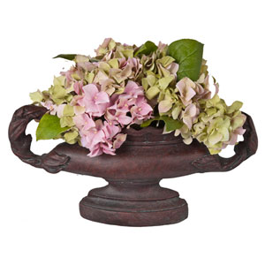 Accents Faux Hydrangea in Oval Urn