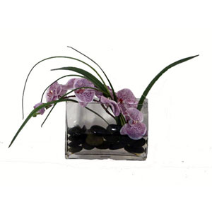 Orchids Faux lavendar in Acrylic Water