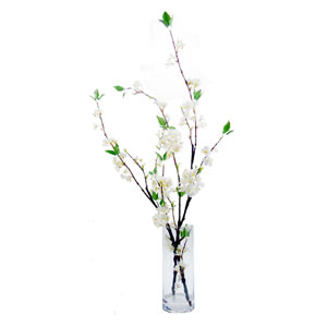 Faux Cherry Blossom in cylinder