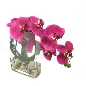Pink Faux Orchid Arrangement