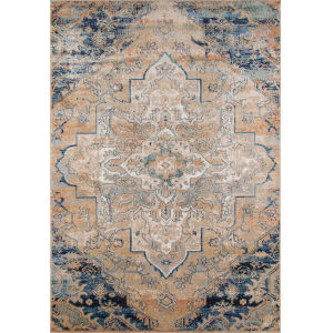 Amelia Medallion Navy Rectangular: 9 Ft. 3 In. x 12 Ft. 6 In. Rug